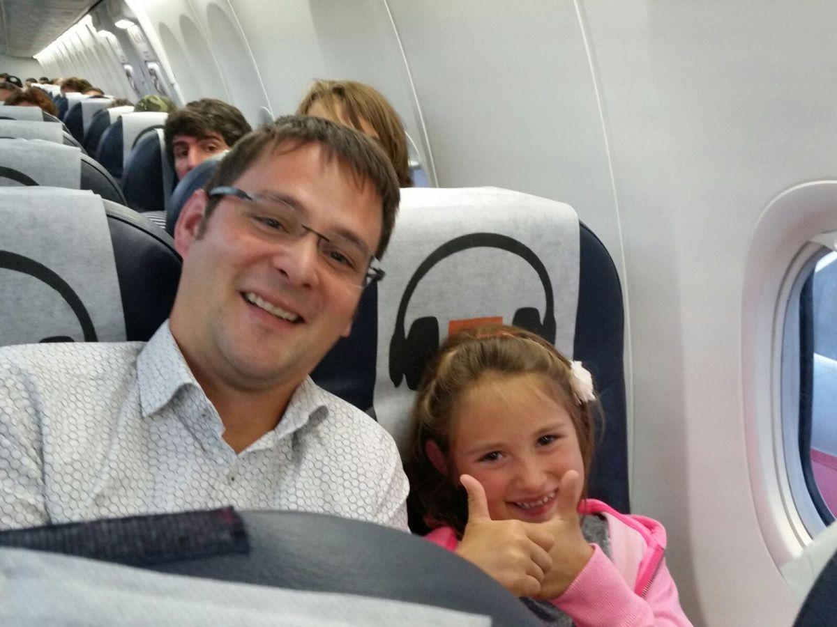 Op het vliegtuig