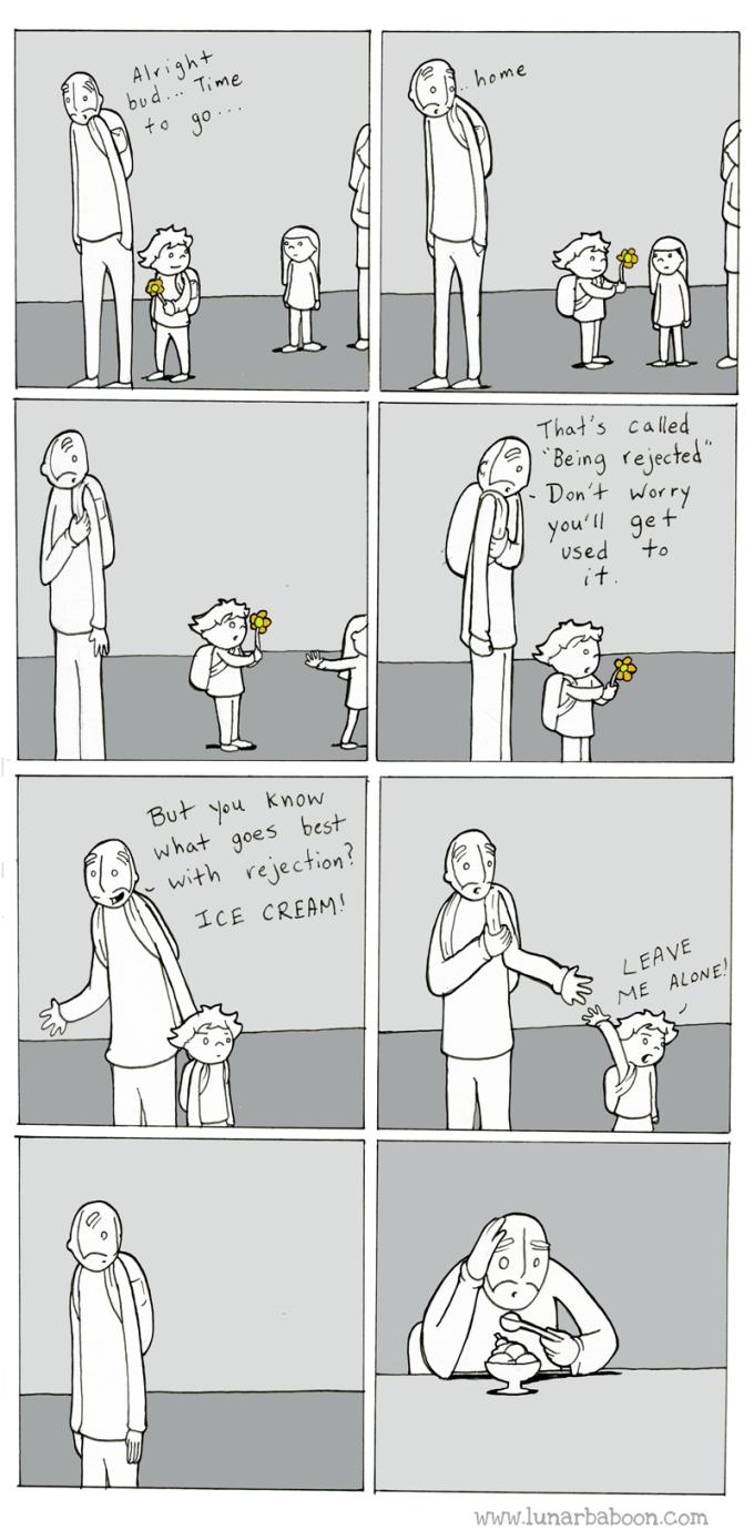 cartoon growing up